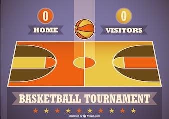 Basketball tournament template