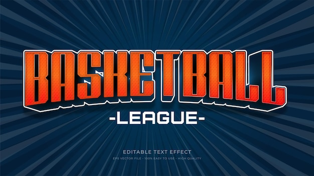 Basketball typography   editable text effect