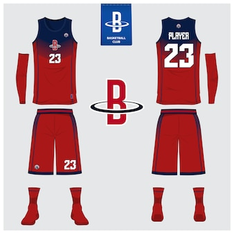 Basketball uniform template design.