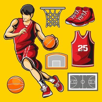 バスケットボールのベクトルパック