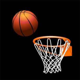 Basketball with basket real