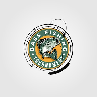 Bass fishing tournament logo