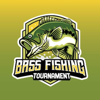 Bass fishing tournament 로고