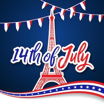 Bastille day 14th of july, vive la france, france celebrate