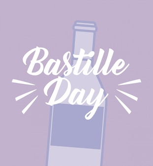 Bastille day celebration with wine