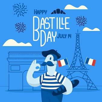 Bastille day concept