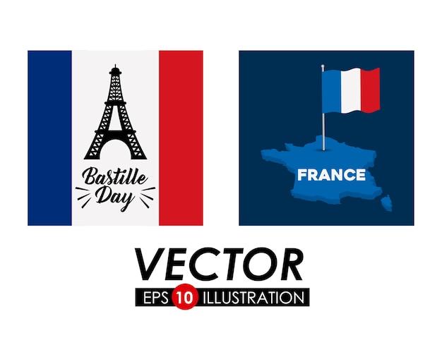 Bastille day design