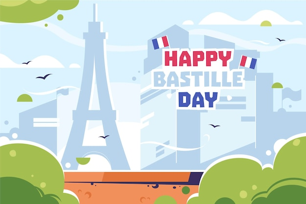 Bastille day illustrated