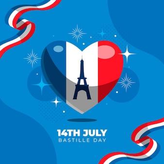 パリ祭のイラスト
