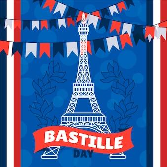 Bastille day illustration