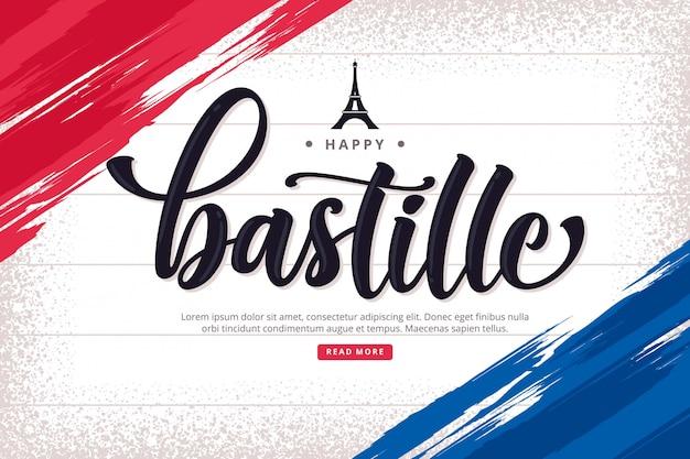 Bastille day lettering background