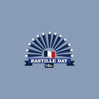 Bastille day vector template design