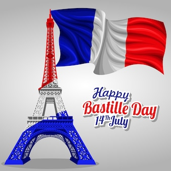 Bastille day vector template