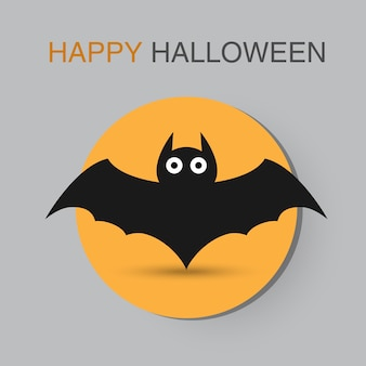Bat black vector icon