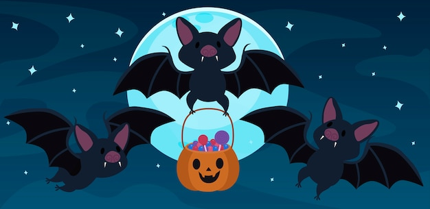 Bat and candy