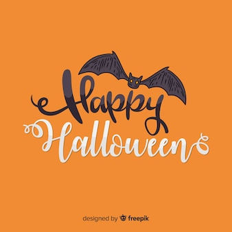 Bat halloween lettering
