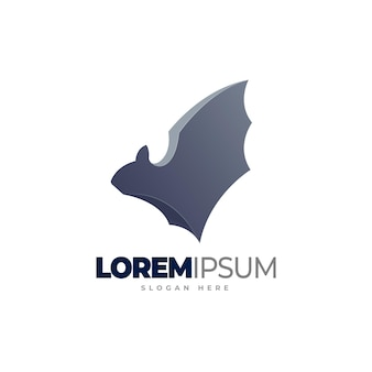 Bat logo template design