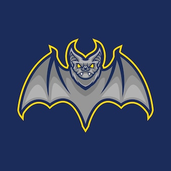 Bat mascot logo design