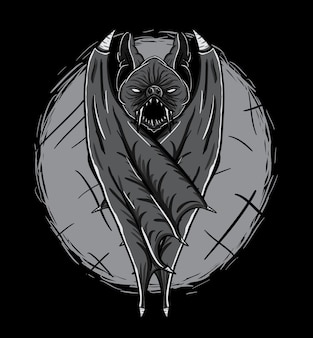 Bat monster vector illustration