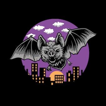 Bat night,blood-sucking bats