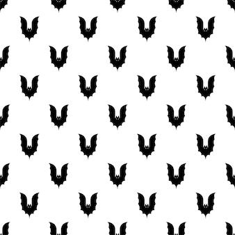 Bat seamless pattern halloween cartoon character