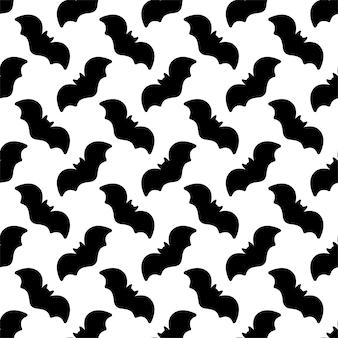 Bat seamless pattern halloween cartoon