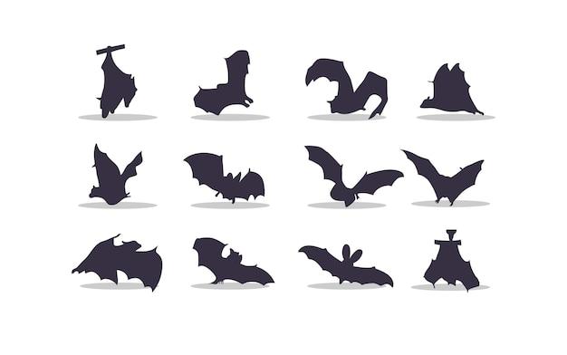 Bat silhouette vector illustration design
