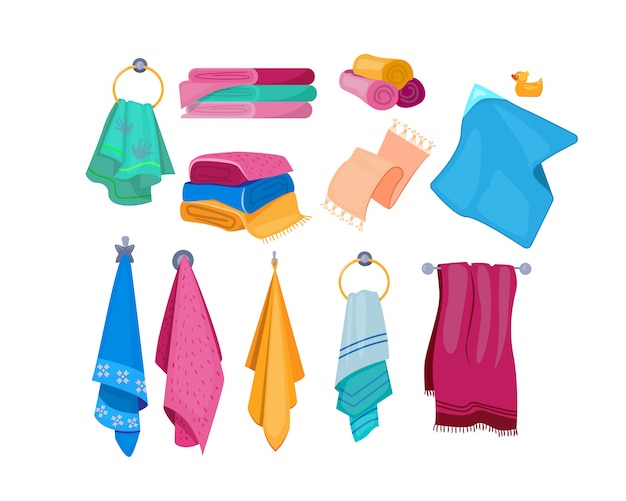 Bath, beach, kitchen towels set