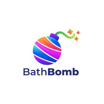 목욕 폭탄 다채로운 그림