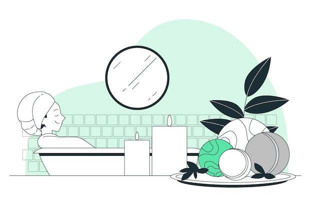 Иллюстрация концепции бомбы для ванны