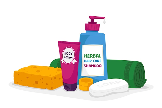 Bath cosmetics and toiletries accessories body lotion