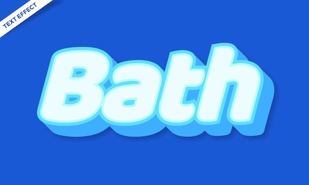 Bath text effect design vector