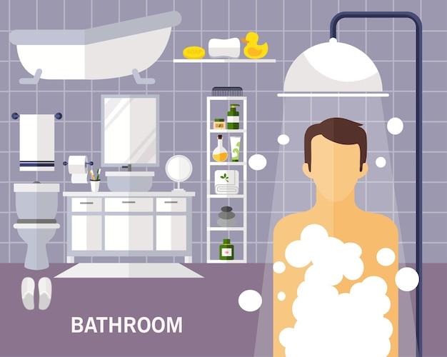 Bathroom concept background