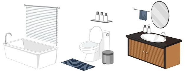 Bathroom furniture isolated