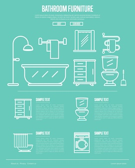 Bathroom furniture  in linear style