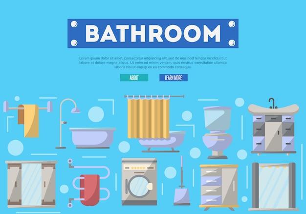 Bathroom furniture renovation  in flat style