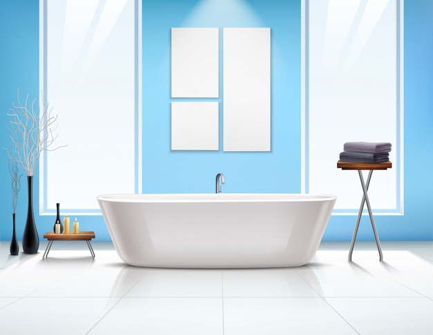 Композиция интерьера ванной