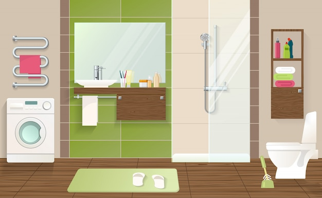 Bathroom interior concept