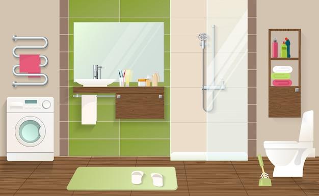 バスルームのインテリアのコンセプト