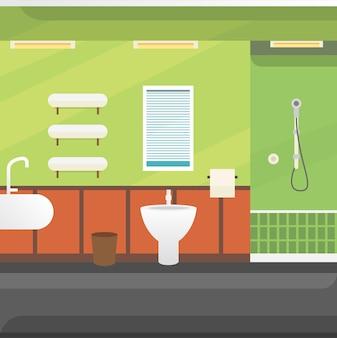 욕실 인테리어 또는 건축 및 가구 그림.