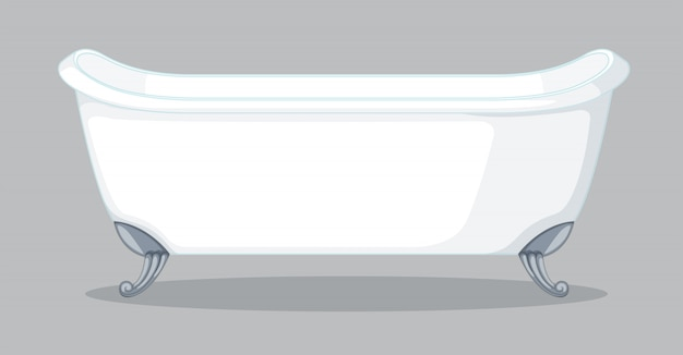A bathtub on grey background