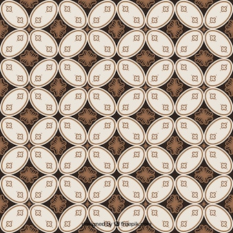Batik background of vintage geometric shapes