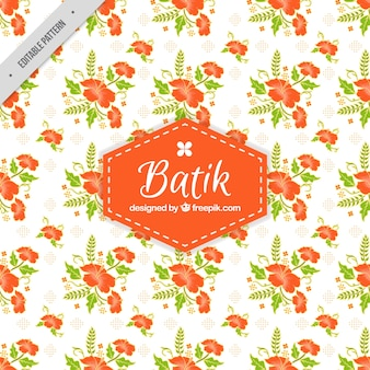 Batik pattern of decorative flowers