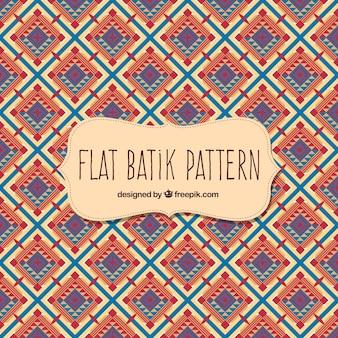 Batik pattern in flat design