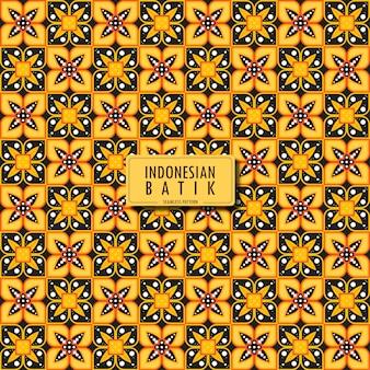 인도네시아 바틱 truntum 기하학적 에스닉 패턴 전통적인 디자인의 바틱 패턴