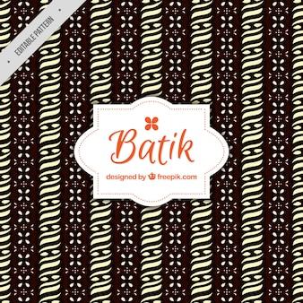 Batik pattern of ornamental shapes