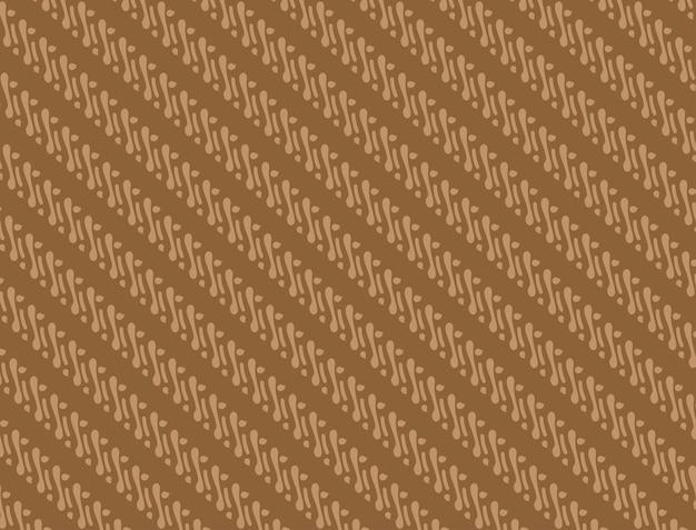브라운 컬러 조합의 바틱 패턴