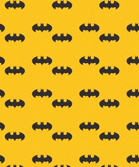 Batman bats seamless vector pattern