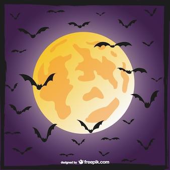 Pipistrelli e la scena della luna