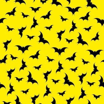 コウモリのシームレスなパターンの背景。ハロウィーン。